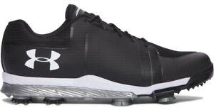 $150 Under Armour UA Tempo Sport Black/White graphite Golf Shoes mens 8 1288576