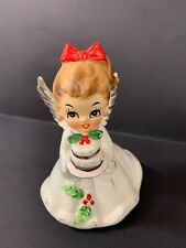 VINTAGE JOSEF ANGEL GIRL WITH CHRISTMAS CAKE FIGURINE JAPAN