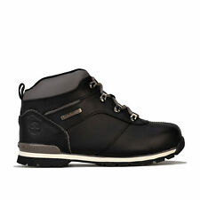 Junior Boys Timberland Splitrock 2 Boots In Black- Lace Fastening- Padded Collar