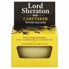 WOOD BALSAM 75ml LORD SHERATON PURE BEESWAX LINSEED OIL POLISH PROTECT FURNITURE