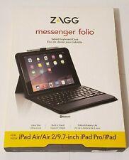 ZAGG Folio Bluetooth Keyboard Case for Apple iPad Pro Air 2 9.7-inch - Black