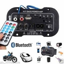 30W Car Truck Bluetooth Subwoofer Hi-Fi Amplifier Board MP3 Audio TF USB 12V/24V