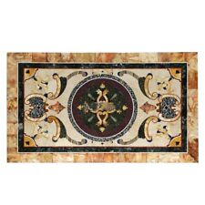 "18""x36"" Handmade Marble Inlay Work Dining Table Top Home Decor"