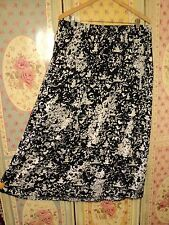 autograph uk  blue white batik rayon skirt  elastic waist   AS BOUGHT  16UK