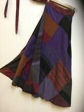 New Ladies long  patchwork wrape around Hippie Festival skirt size 10 to 16