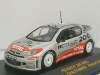 1/43 PEUGEOT 206 WRC GRONHOLM FINLAND 2002 IXO RALLY CAR COCHE ESCALA DIECAST