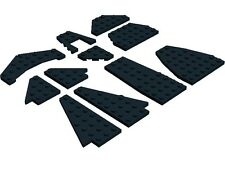 LEGO Wing Wedge Plates x11 Black Plane Jet Space Shuttle City Airport Star Wars