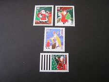 Canada, Scott # 1339-1342(4),Complete Set 1991 Christmas Issue Mnh