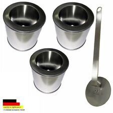 3 Fuel tinplate cans 0.25l 3 Saving stainless steel plates 1 Flame extinguisher