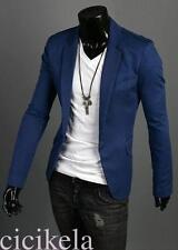 One Button Suit Coat For Men Formal Casual Dress Slim Fit Blazer Jacket Elegant