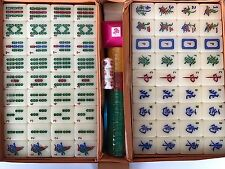 """NOS Vintage Sealed MAI-JONGG """"Chinese Game of Four Winds"""" GAME Bakelite w/case"""
