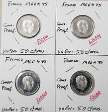 Estado español FRANCO. 50 céntimos PROOF año 1966 en estrellas 1975. AUTENTICA.