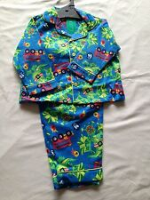 BNWT Boys Sz 1 Blue Dragon Print Long Style Flannel Winter Style PJ Pyjamas