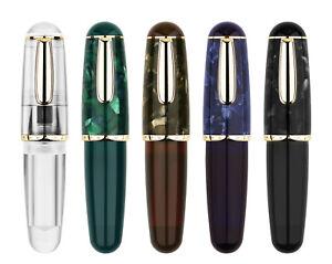 Majohn Q1 Mini Eyedropper Fountain Pen Resin Short Pocket Pen EF/F Gift Pen Box