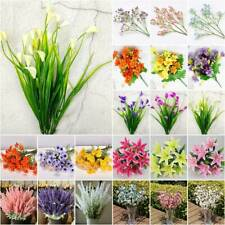 Artificial Silk Flowers Bouquet Fake False Bunch Wedding Party Home Decor Garden