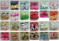 Newborn Baby Indoor Cotton Anti-slip Warm Socks Animal Cartoon Shoes Slippers.
