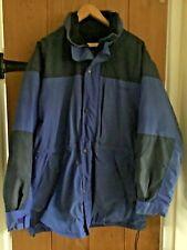 """SCANDA Size L (42""""-44"""" )Mens Royal Blue Thick Fleece Lined Nylon Jacket +Hood"""