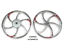 Aluminum Wheels with 44T Sprocket Hy-22 (Silver) 80Cc Gas Motorized Bicycle