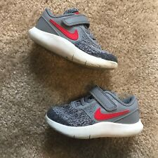 Nike Flex Contact Toddler Shoes Gray Red Size 8