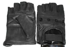 Fingerless Deer Skin Leather Gloves Size Medium