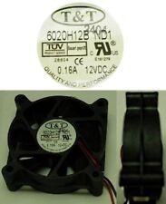 NEW Ball Bearing 60mm*20mm T&T 6020H12B-ND1 12VDC/12V/9V Fan 2wire 2.36*.79inch