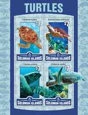 Solomon Islands 2016 MNH Turtles Green Sea Turtle 4v M/S Reptiles Stamps