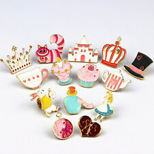 Chic Cartoon Cute Alice In Wonderland Heart Rabbit Brooch Pins Badge Pin Charm