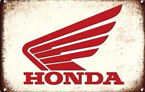 Honda Metal Sign Vintage Motorbike Motorcycle Civic Garage Man Cave Plaque