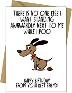 Funny Happy Birthday Card From The Dog For Mum Dad Husband Wife