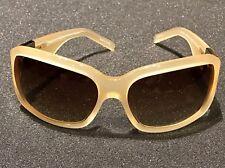 New LINDA FARROW Oscar De La Renta ODLR4C3SUN Nude and Mother of Perl Sunglasses