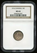 1916 Ten Cents - NGC MS64, nicely toned!