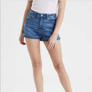 American Eagle Mom Shorts Medium Blue Wash Size 4 EUC