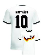 Lothar Matthaus Germany No.10 Italia 90 Mens Football Ringer T-Shirt