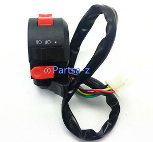 Handlebar Starter Switch 8 Wires ATV  with Choke Lever