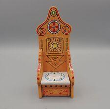 Vintage Dollhouse Hall Tree Chair Hand Painted Unique Design Folk Art
