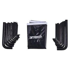 25Pc Imperial & Metric Hex Key Set with Storage Pouch