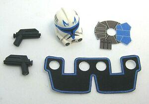 Custom CAPTAIN REX Accessory Pack -Phase 2 Helmet Kama Pistols-for minifigures