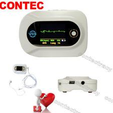 CE Contec CMS-VE Visual Electronic Stethoscope,ECG+Free PR SpO2 Probe,Color LCD