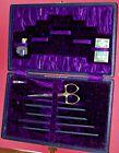 Antique Purple Velvet Lined Sewing Kit