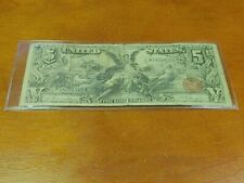 1896 $5 Five Dollar Educational Silver Certificate Note Fr#268 RARE!!!