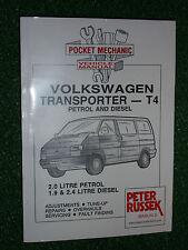 VOLKSWAGEN VW T4 PETROL & DIESEL TRANSPORTER VAN CARAVELLE BUS MANUAL 1990-1995