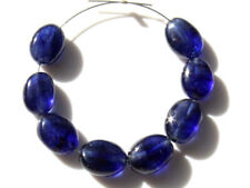 Natural Blue Sapphire Smooth Oval Gemstone Beads