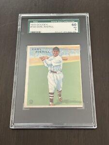 Earl Averill Cleveland Indians 1933 Goudey Baseball #194 SGC 60 EX 5