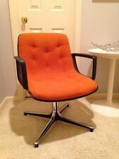 Mid Century Modern Office Accent Chair Orange Knoll Pollock Era SALE!