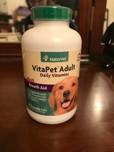 Naturvet Vitapet Adult- VitaPet Adult Daily Vitamins Plus Breath Aid. EXP 9/20