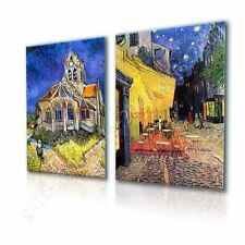 Church Cafe Terasse by Vincent Van Gogh   Canvas (Rolled)   Set Of 2 Wall art
