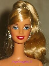 Nude hollywood Barbie face sculpt long blonde high ponytail