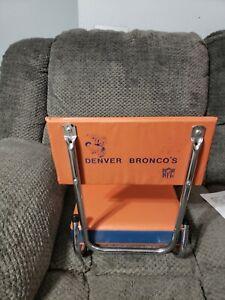 Vintage Denver Broncos Stadium Seat Hard to Find Early 90's Fold Up Football HTF