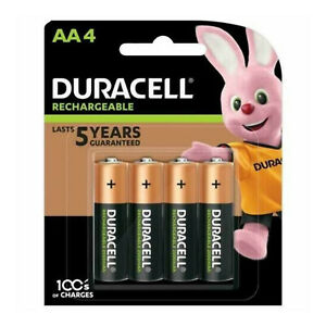 Duracell AA 2500 mAh PRE STAY CHARGE Rechargeable Batteries NiMH Phone 1/2/4/8
