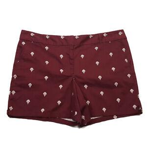 NEW Ann Taylor LOFT Women's Size 16 Chino Shorts, Burgundy